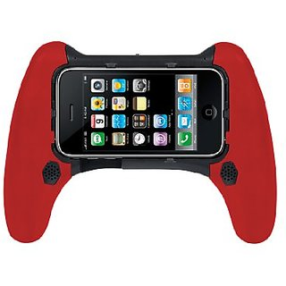 CTA Digtal Rechargeable Stereo Speaker Controller Grip for iPhone and iPod touch (Black/Red)