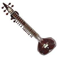 SG Musical PEACOCK Sitar RAVI SHANKAR Style Double Toomba Half Decorated