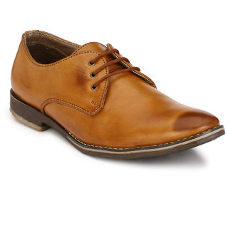 Eego Italy MenS Brown Lace - Up Smart Formal Shoes
