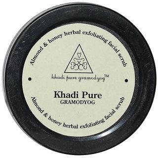 Khadi Pure Herbal Almond Honey Exfoliating Facial Scrub - 50g