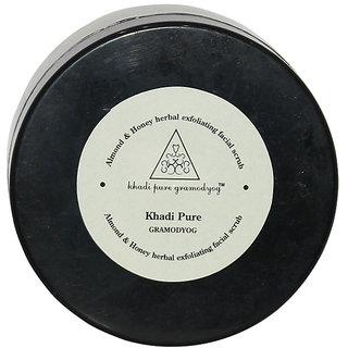 Khadi Pure Herbal Almond Honey Exfoliating Facial Scrub - 100g