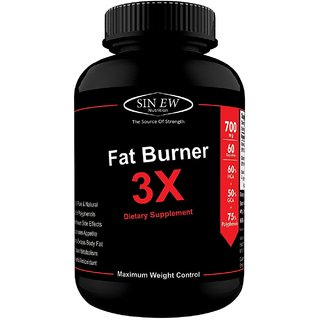 Sinew Nutrition Natural Fat Burner 3X (Green Tea Green Coffee Garcinia Cambogia Extract) - 700 mg (60 Veg Capsules)