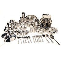 61 Pcs Stainless Steel Dinner Set