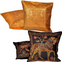Buy Cushion Cover Set N Get Cushion Cover Set Free Design 17 COMB255