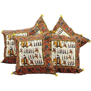 Sanganeri Handblock Printed Cushion Cover Set -303 CUS303