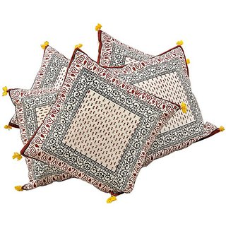 Ethnic Handblock Printed Cotton Cushion Cover -304 CUS304