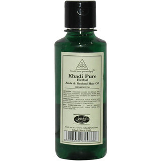 Khadi Pure Herbal Amla Brahmi Hair Oil - 210ml