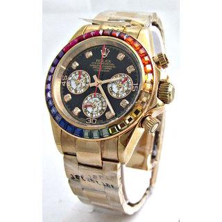 Rolex Cosmograph Daytona Rainbow Jewels Swiss ETA 7750 Valjoux Movement Watch
