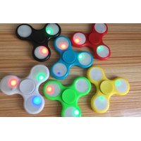 Spinner Fidget Toy Plastic EDC Hand Spinner For Autism and ADHD Rotation Time Long Anti Stress Toys With Light