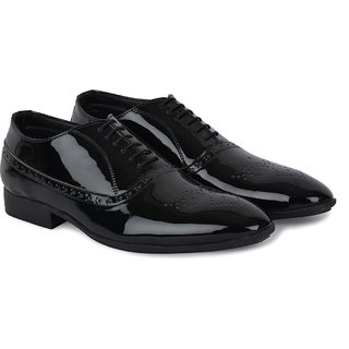 Ziraffe VLAD Black Patent Mens Party WearShoes