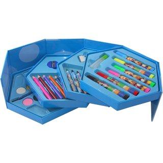 Colors Box Set Of 46 Pcs,Color Pencil ,Crayons , Water Color, Sketch Pens (Stationery Set)