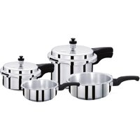 Surya Accent ISI mark Pressure Cooker ( 2 litre + 4 Litre) and Pressure Pan Set ( 1 litre+ 3 Litre )