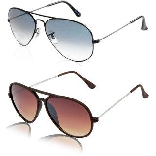 Aoito Classy Aviator Sunglasses & Aoito Stylish Brown Aviator Sunglasses.