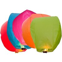 Sky Lanterns - Pack Of 5 Diwali Sky Lights Multi Color Gifts