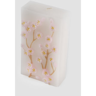 FENNEL Pink Seasonal Flower Embossed Candle