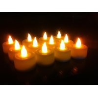 IDeals Tealight LED Diya - (Plastic, Yellow, Set Of 12)   $Material: Plastic Siz