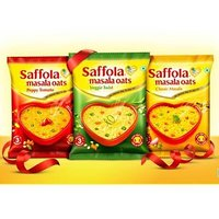 Saffola Spicy (Masala) Oats, Ready in 3 Minutes, 3 Different Flavors - Classic Masala, Peppy Tamato and Veggie Twist , Delicious Healthy Breakfast - Pack of 6 (2 Flavors Each)