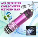 Gadget Hero's New Mini Car Auto Ionizer Fresh Air Purifier Oxygen Ozone Bar Cleaner Deodorant Magenta Color Car 12V DC Powered No Refilling Required