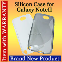 Protective Silicone Back Case Cover  For Samsung Galaxy Note2 N7100