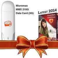 Micromax 210G 3G Data Card + Guardian Antivirus (1PC 1YR)