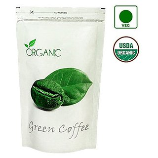 Organic Green Coffee Beans (Decaffeinated  Unroasted) 100gm