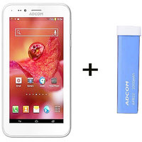 Combo Of Adcom A680 - White + APB 2200mAh Powerbank- Blue