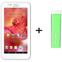 Combo Of Adcom A680 - White + APB 2200mAh Powerbank- Green