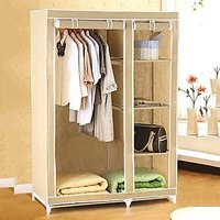 Foldable Collapsable Wardrobe Cupboard Storage Cabinate Almirah Rack