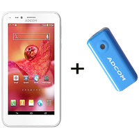 Combo Of Adcom A680 - White + APB 4400mAh Powerbank- Blue