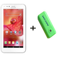 Combo Of Adcom A680 - White + APB 4400mAh Powerbank-Green