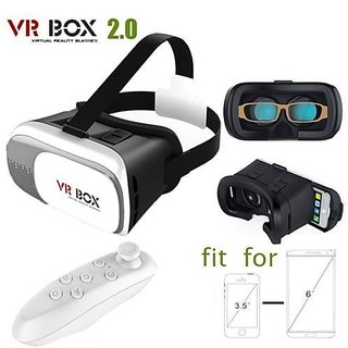 Combo 3d Vr Box 2.0 Virtual Reality Glasses With Vr Remote Google Cardboard 3d For Smart Phones