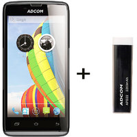 Combo Of Adcom A50 - Black + APB 2200mAh Powerbank- Black