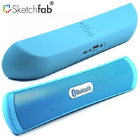 Sketchfab Portable HiFi wireless Bluetooth B-13 pill Speaker With TF Card Support