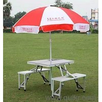 Picnic Table  Chairs Set With Umbrella