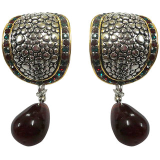 Asian Pearls & Jewels Silver And Multi Fashion Earrings
