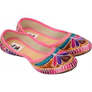 Jaipuri Prints Multi Color Flat Ethnic Footwear