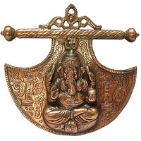 Metal -Copper Polish Ganesha Wall Hanging