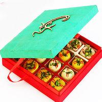 Ghasitaram'S Sugarfree Om Green Mix Mithai Box