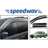 Speedwav Ford Ikon Car, Side Window Deflector (Set Of 4 Pieces)