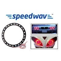 Speedwav Angel Eyes Led Tube Strip Light For Car & Bikes Headlight - Red Set Of 2