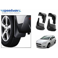 Speedwav Car Mud Flaps For Fiat Punto Set Of Four Pieces