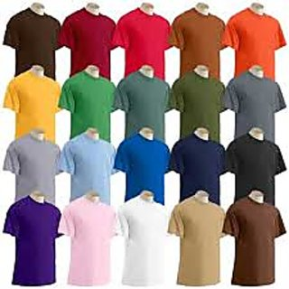 Value Pack Of 5pic 100% COTTON  ROUND NECK CREW NECK V NECK PLAIN [CLONE]