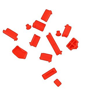 VIKINS 13 Piece Universal Set of Anti-Dust Silicone Port Plugs/Stopper Set for PC/Laptops/Notebooks (Red)