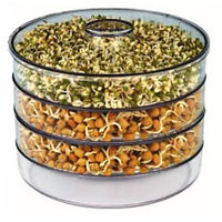 Assured Sprout Maker, 4 Bean, Hygienic, Bowl, Large,  4 Container Set