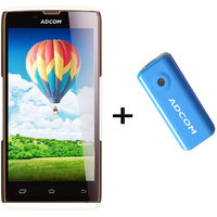 Combo Of Adcom A50 - White + APB 4400mAh Powerbank- Blue