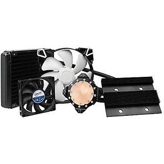 ARCTIC Accelero Hybrid III-140 (GTX 980) Graphics Card Liquid Cooler 140 mm Radiator High-End Backside Cooler Dedicated VRM Cooling Supports GTX 980