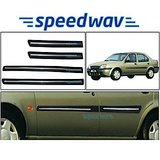 Speedwav Side Beading Chrome Plated For Ford Ikon - Black Colour
