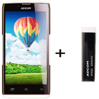 Combo Of Adcom A50 - White + APB 2200mAh Powerbank- Black