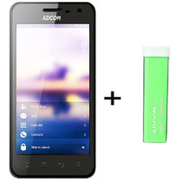 Combo Of Adcom A430 IPS - Black + APB 2200mAh Powerbank- Green