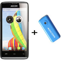 Combo Of Adcom A50 - Black + APB 4400mAh Powerbank- Blue